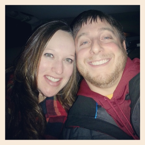 last photo of our family of two...we took this in the car eating our shakes and breathing through contractions :)